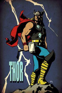 Thor artwork: Ages of Thunder by kit-kit-kit on DeviantArt Comic Book Characters, Comic Book Heroes, Comic Character, Comic Books Art, Comic Art, Marvel Comics Superheroes, Marvel Art, Marvel Heroes, Avengers Art
