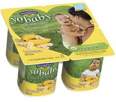 Great yogurt for babies! Kaylee and Rachel both started off with this whole milk yogurt yobaby from Stonyfield farms.