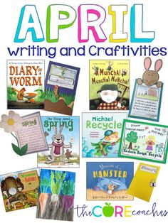 April writing and craftivities to go with read-alouds