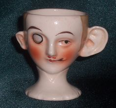 Large ear face egg cup. Part of the Egg-Centric Collection, Australia