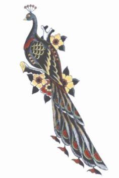 1950 Peacock Tattoo