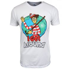 Local Celebrity Wheres Wally I Get Around Tshirt Wo Ist Walter, Goodie Two Sleeves, Wheres Wally, Mens Xl, Vintage Men, Menswear, Celebrities, Mens Tops, Baby Bottles