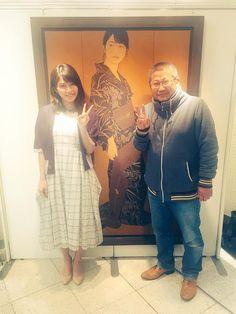 Yui Yokoyama & Ikenaga Yasunari who drew the painting