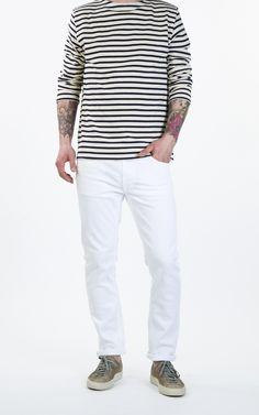 Nudie Jeans Lean Dean Clean White