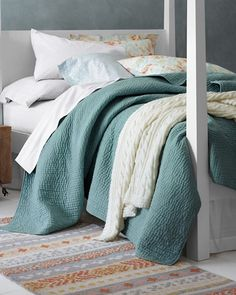 Dream Quilt and Sham - Garnet Hill :: $168 for double/queen quilt and $48 per sham