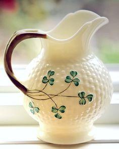 Belleek Irish creamer, Belleek Pottery, Belleek, Fermanagh, Northern Ireland