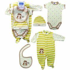 Hudson Baby Gift Set, 5 Piece, Baby Owl
