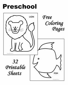 Preschool coloring pages!