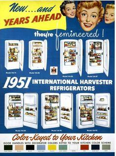 International Harvester refrigerators 1951