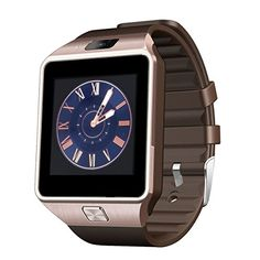 Bluetooth Smart Watch Digital Sport Smartwatch for Android Phones iPhone Samsung HTC (Gold). Feature: Bluetooth, Build in flash, play. Support SIM or Micro SIM card. Android Smartphone, Android Phones, Android Watch, Android Camera, Android Clock, Huawei Phones, Wearable Device, Wearable Technology, Tecnologia