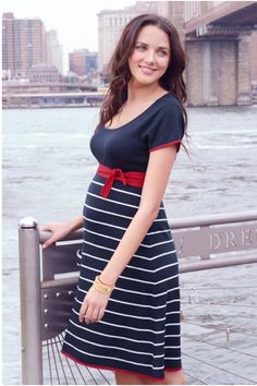 9368faa49ef5f Show off your gorgeous baby bump with this beautiful Seraphine Nautical Maternity  Dress. Receive a
