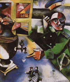 Le soldat buveur, 1911-1912, Marc Chagall