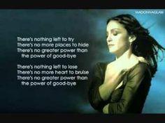 MADONNA - THE POWER OF GOODBYE LYRICS