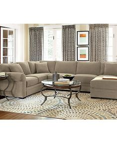 radley fabric sectional living room furniture sets & pieces