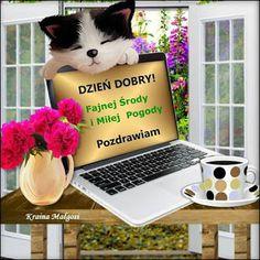 Gify i Obrazki: MILEJ ŚRODY Good Morning, Lettering, Bom Dia, Buen Dia, Bonjour, Letters, Texting, Buongiorno, Calligraphy