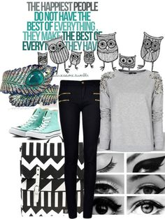 A fashion look from March 2013 featuring cotton shirts, super skinny jeans and converse shoes. Browse and shop related looks. Jeans And Converse, Converse Shoes, Happy People, Super Skinny Jeans, Fashion Looks, Polyvore, How To Make, Cotton, Shirts