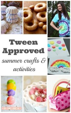 summer crafts and activities for tweens - My tween came up with this fantastic list of crafts and activities to do over summer vacation. Did your tween's favourite activity make the list? | Tween Crafts | Summer Activities for Kids | Kid Activities |