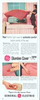 GE Slumber-Cover Automatic Blanket 1955 Ad Picture