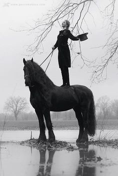 O after she was bewitched by Henry, Serita stood on horses . . . everywhere