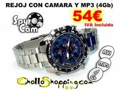 www.cholloshoping.com de origen en Yecla reloj con camara y mp3 (4gb) por 54,00€ entra en la web y consigue este producto y muchos más !!!