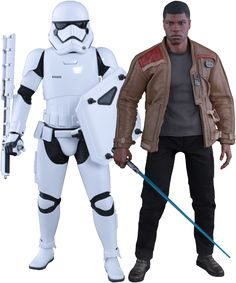 Finn and First Order Riot Control Stormtrooper Hot Toy | Star Wars Episode VII: The Force Awakens Hot Toy | Popcultcha