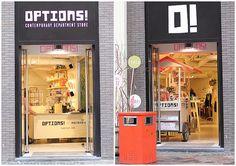 Options! | Amsterdam Amsterdam, Cafe Shop, Shop Interiors, Department Store, Retail Design, Contemporary, Modern, Locker Storage, Restaurant
