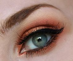 Copper eyes... What a great summer evening look