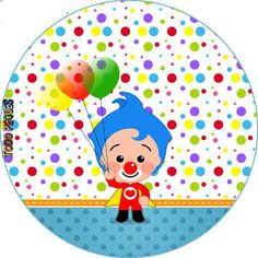 Plim-Plim-Cumpleaños-Payaso-Plim-Plim-globos-stickers-plim-plim-.-etiquetas-candy-bar-plim-plim-descargar-gratis.jpg (456×456)