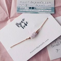 Lovely snap of my amethyst gemstone bar bracelet in rose gold by @perksofbeingami.  Moontidejewels.com xx