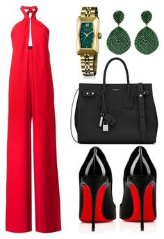 """""""Suave"""" by tjwstyleconsultant on Polyvore featuring Misha Nonoo, March LA.B, Yves Saint Laurent and Christian Louboutin"""