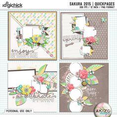 Sakura 2015   Quickpages  by Akizo Designs (Digital Scrapbooking Page)