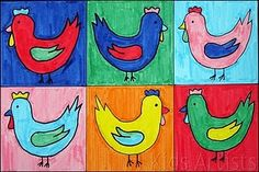 Love these Andy Warhol Chickens