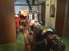 NT Cragside House. DC generator set. Hydro Turbine at back. Oct 2014.