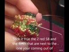 Beaded Bead Christmas Beading Tutorial by Honey Beads