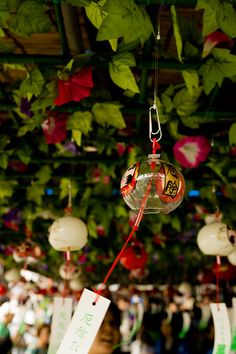 Furin is a glass wind-bell.  ..at Hoorin festival in Huurin city !  wow,,,Awesome!!  via flickr