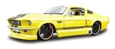 1:24 1967 Ford Mustang GT by Maisto. $34.99. From the Manufacturer                1:24 1967 Ford Mustang GT:  These muscle cars are ready for the drag strip!  The first thing you'll notice is the engines - stroked, bored, and blown.  Then it's the racing rims and fat rubber slicks.  The racing graphics give it just the right touch of authenticity.  Just Wait for the green light!                                    Product Description                This is a new item tha...