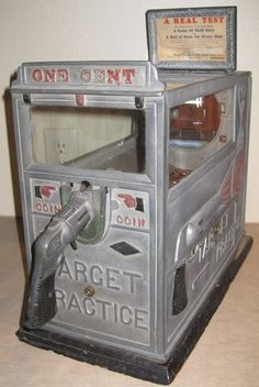 old coin operated machines   Old coin operated slot machine trade stimulator Antique Target ...