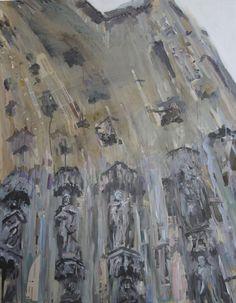 Mercedes Garrido - Síndrome Stendhal Catedral Sevilla. Catedral 1, técnica mixta y collage sobre lienzo.