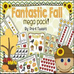 Includes Fall calendar cards and set for classroom