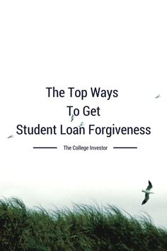 There are many ways to get student loan forgiveness, including volunteer work, medical studies, the military, or law school. Pay off Debt, Student Loan Debt #debt Pay off Debt, Student Loan Debt #debt