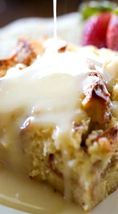 Tres Leches Bread Pudding with Vanilla Cream Sauce