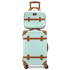 Vintage inspired, Gatsby brings an air of sophistication to any type of traveler; a flawless combination of fashion meets function. This spinner is constructed with the consumer in mind, with an integrated 3-digit TSA-approved lock for security, four 360 degree spinner wheels for easy maneuverability, and a telescopic retractable pull handle. The included beauty case comes with a vanity mirror, adjustable detachable shoulder strap, and spandex strap located on the back. Cheap Luggage, Carry On Luggage, Luggage Sets, Carry On Bag, Hard Rolls, Hardside Luggage, Beauty Case, Thick Leather, One Bag