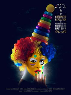 Puranjoy - Capturing a series of artful beauty portraits, fashion and makeup photographer Puranjoy brings his dynamic circus inspiration to life. Makeup Themes, Makeup Ideas, Female Clown, Female Faces, Night Circus, Space Girl, Old Shows, Circus Theme, Beauty Portrait