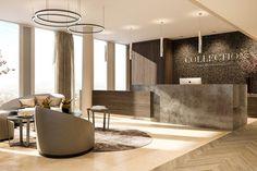 Empfangsbereich im COLLECTION Business Center Frankfurt Nextower Frankfurt, Lounge, Business Centre, Divider, Room, Furniture, Home Decor, Collection, Conference Room