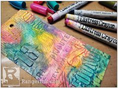 Distress Crayons Blog Hop