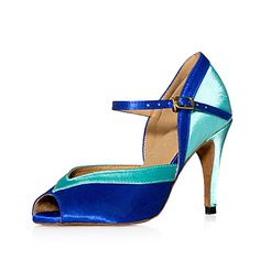 Customized Women's Satin Upper Ankle Latin / Ballroom Dance Shoes With Buckle (More Colors) – USD $ 34.99