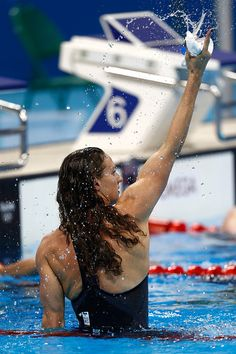 #RIO2016 - Best of Day 1 - Katinka Hosszu of Hungary celebrates winning gold and a new world record in the Final of the Women's 400m Individual Medley on Day 1 of the Rio 2016...