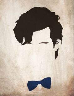 Minimalist Doctor Who poster - The Eleventh Doctor ?with a fez and a red bow tie for art project?