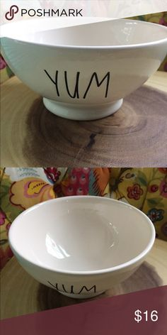Rae Dunn Yum Bowl. New New Rae Dunn Yum bowl. No chips or cracks Rae Dunn Other
