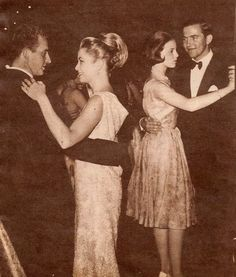 The Royal Watcher:  Prince (now King) Juan Carlos of Spain dances with Princess Grace of Monaco; Princess Anne-Marie of Denmark dances with her fiance King Constantine of Greece